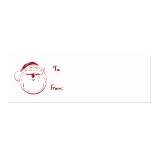 merriest holiday retro santa gift tag business cards