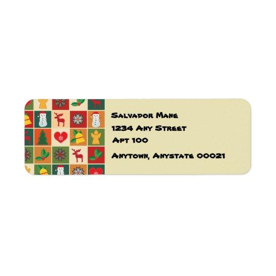 Merriest of Christmases Return Address Label