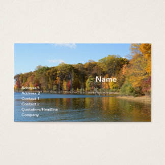 Merrill Creek Reservoir in Washington, New Jersey Business Card