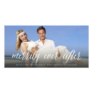 Merrily Ever After Christmas Holiday Photo Card
