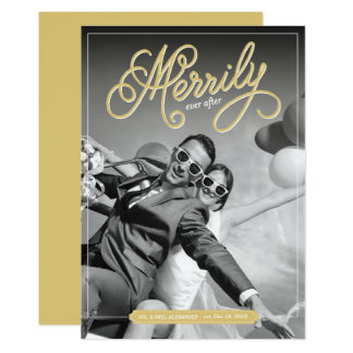 Merrily Ever After First Christmas Holiday Card 13 Cm X 18 Cm Invitation Card
