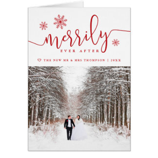 Merrily Ever After | Folded Holiday Greeting Card