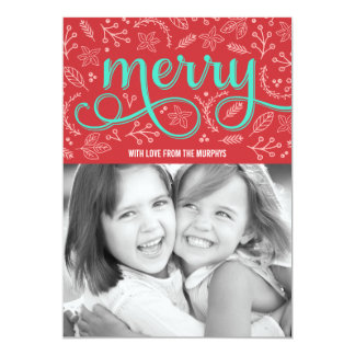 Merrily Illustrated Holiday Photo Cards 13 Cm X 18 Cm Invitation Card