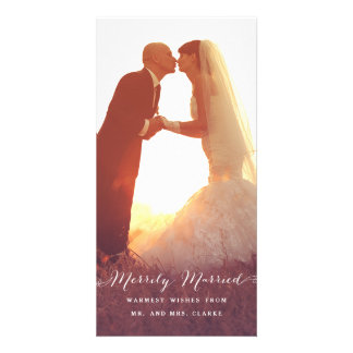 Merrily Married Christmas Photo Holiday Card Photo Cards