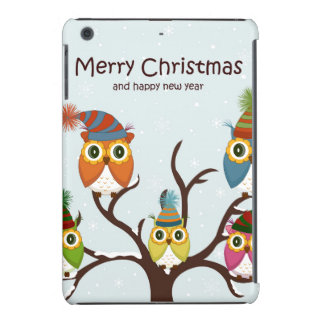 Merrry Christmas Owls in the Tree iPad Mini Case