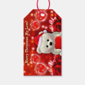 Merrry Christmas Teddy Bear Gift Tag