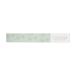 MERRY address wrap labels