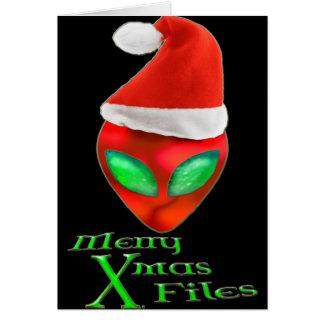 Merry Alien Xmas Files Card
