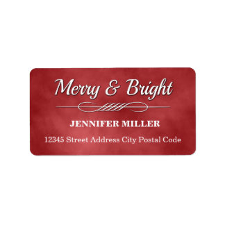 Merry and Bright Address Label