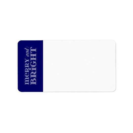 Merry and Bright Address Labels
