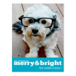 Merry and Bright Bold Modern Holiday Photo Card