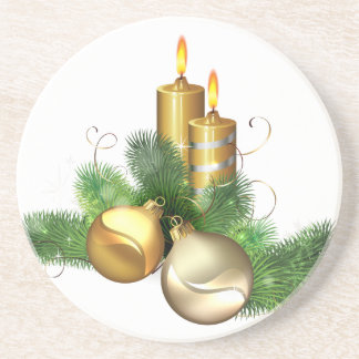 Merry and Bright Candles Coasters
