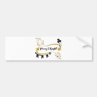 Merry and Bright Card Bumper Sticker
