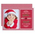 Merry and Bright Christmas. Custom Photo Cards 13 Cm X 18 Cm Invitation Card