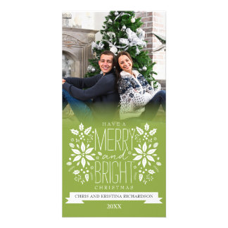 Merry and Bright Christmas Photo Card