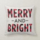 Merry and Bright | Deep Red Buffalo Plaid Cushion