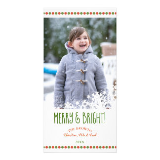 Merry and Bright Flurry Holiday Photo Card