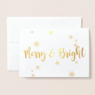 Merry and Bright Foil Foil Card