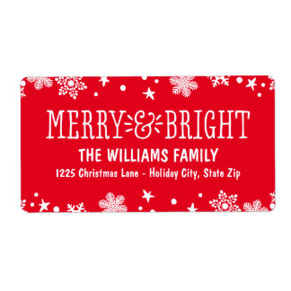 Merry and Bright | Holiday Address Labels