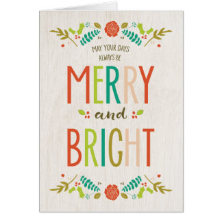 Merry and Bright Holiday Card