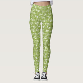 Merry and Bright Holiday Leggings (green)