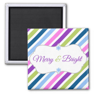 Merry and Bright Holiday Magnet
