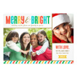 Merry and Bright Holiday Photo Card | Bold Colours Custom Invite