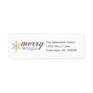 Merry and Bright Holiday Return Address Labels