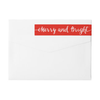 Merry and Bright | Holiday Return Address Labels