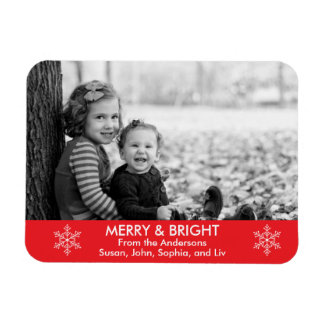 Merry and Bright Holiday Wishes Magnet