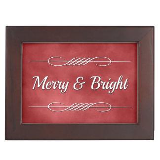 Merry and Bright Keepsake Box