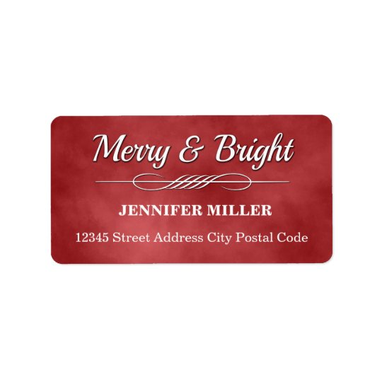 Merry and Bright Label