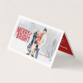 Merry and Bright, Love and Joy. Minimalist. Card