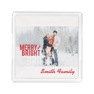 Merry and Bright. Minimalist. Acrylic Tray