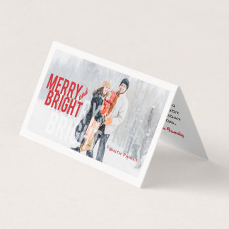 Merry and Bright Minimalist. Card