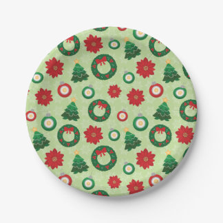 Merry and Bright paper plates