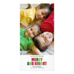 Merry and Bright Photo Christmas Card Picture Card