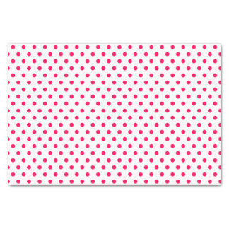 Merry and Bright Pink Polka Dots on White Tissue Paper