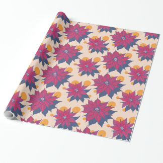 Merry and Bright Poinsettia Gift Wrap