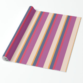 Merry and Bright Striped Gift Wrap