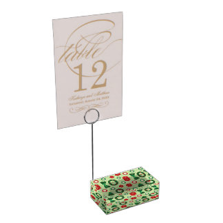 Merry and Bright table card holder