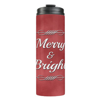 Merry and Bright Thermal Tumbler