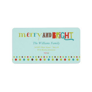 Merry and Bright (Today's Best Award) Address Label