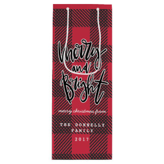 MERRY AND BRIGHT WINE GIFT BAG