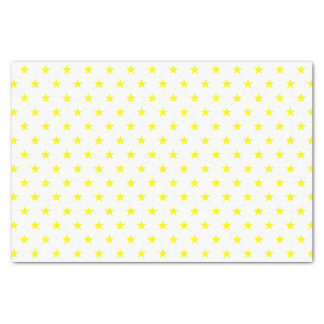 Merry and Bright Yellow Stars on White Holiday Tissue Paper