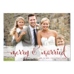 Merry and Married | Snowflakes Holiday Photo Card 13 Cm X 18 Cm Invitation Card