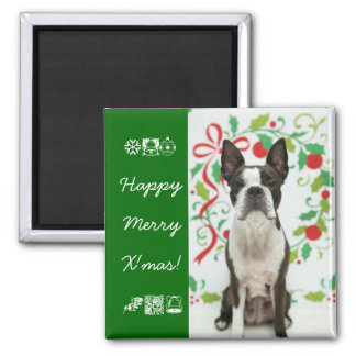 Merry and X'mas! Square Magnet