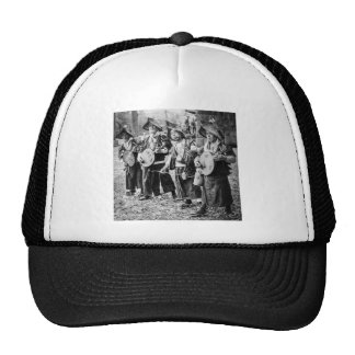 Merry Band of Musicians in Old Japan Vintage Music Cap