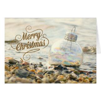Merry Beach Christmas Card