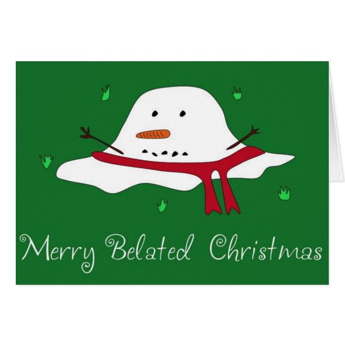 Merry Belated Christmas Greeting Card